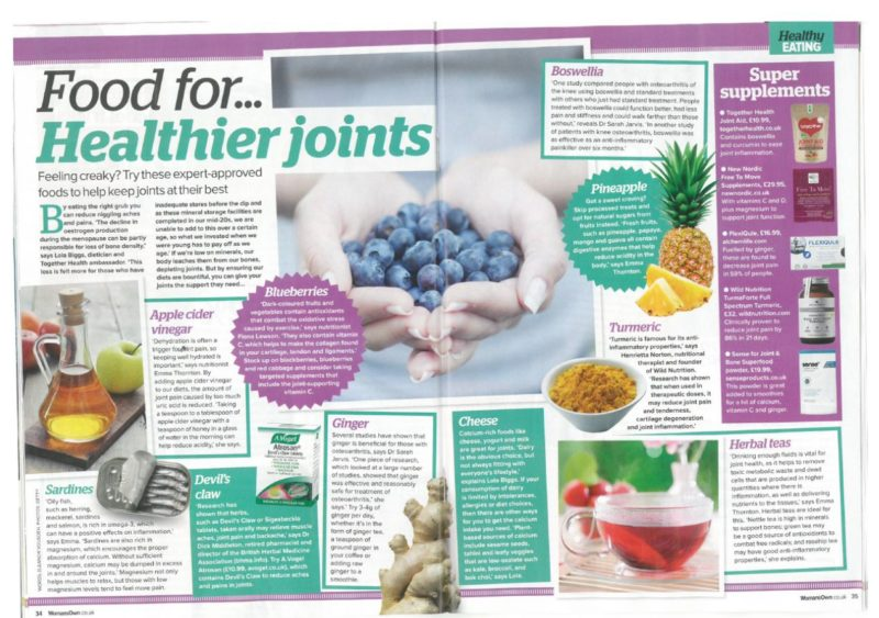 womans own recommends sense for joint and bone superfood supplement powder