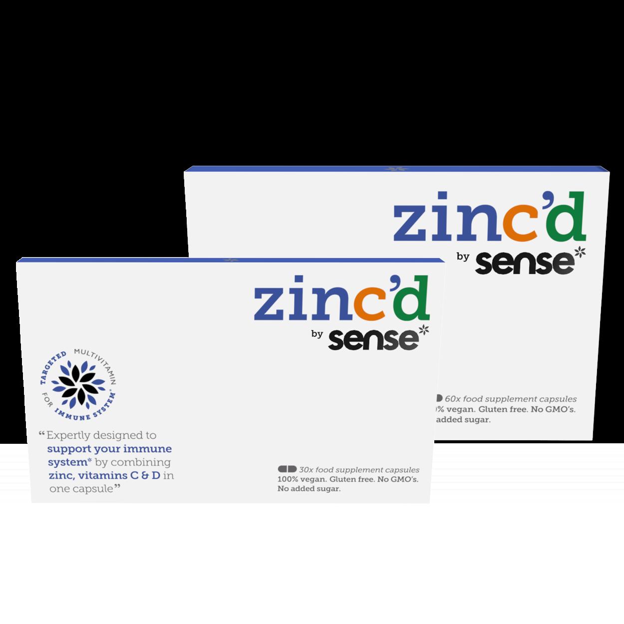 zinc'd by sense* range
